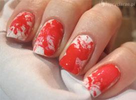 Jak zrobić krwawe zdobienie paznokci metodą dmuchanego lakieru