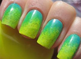 Jak zrobić żółto zielone neonowe paznokcie