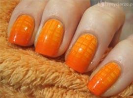 Jak wykonać pomarańczowe zdobienia w kształcie siatki