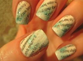 Jak zrobić gazetowe ombre na paznokciach