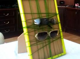 Jak zrobić ramkę do wieszania okularów