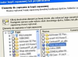 Ja wykonać kopię zapasową Kreatorem Windows XP