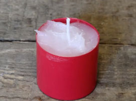 Jak wykorzystac wazelinę #3 - awaryjna świeczka z wazeliny