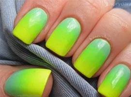 Jak pomalować paznokcie - żółty neon i pastelowa mięta