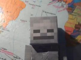 Jak zrobić szkieleta z papieru (Minecraft)