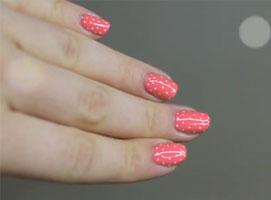 Jak pomalować paznokcie w groszki