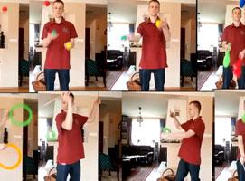 Jak nauczyć się żonglerki 3 piłkami - kaskada odbijana od głowy