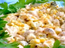 Jak zrobić sałatkę z pieczarkami i kurczakiem