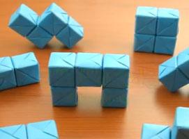 Jak zrobić puzzle z papierowych sześcianów