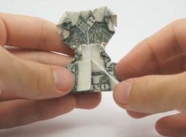 Jak zrobić psa z banknotu