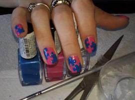 Jak zrobić puzzle na paznokciach