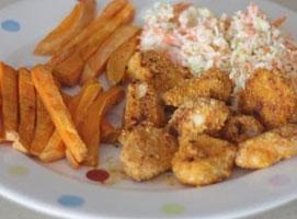 Jak zrobić dietetyczne nuggetsy z kurczaka z frytkami