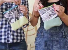 Jak zrobić mini torebkę na telefon i inne drobiazgi