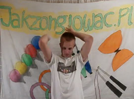 Jak nauczyć się żonglerki 3 piłkami - prysznic leworęczny
