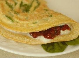 Jak zrobić omlet ze szpinakiem i borówkami