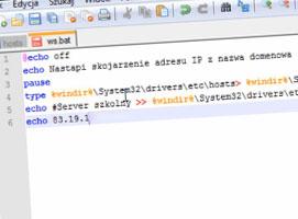 Jak stworzyć skojarzenie adresu IP z nazwą domenową