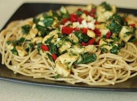 Jak zrobić spaghetti ze szpinakiem i kurczakiem