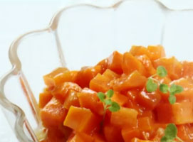 Jak dodatek do obiadu - gotowana marchewka