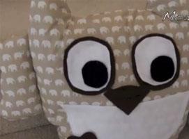 Jak zrobić poduszkę w kształcie sówki