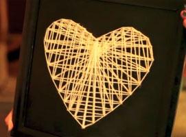 Jak zrobić prezent na walentynki techniką string art