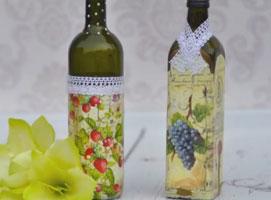 Jak ozdobić butelkę na wino metodą Decoupage