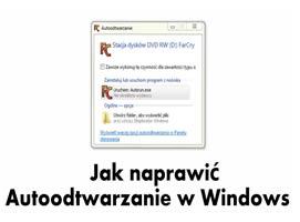 Jak naprawić autoodtwarzanie w Windows 7