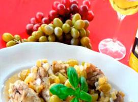 Jak zrobić kurczaka w winie z winogronami