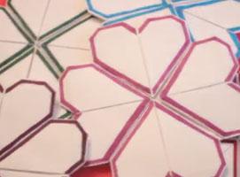 Jak zrobić z papieru serduszkowe dekoracje na ścianę