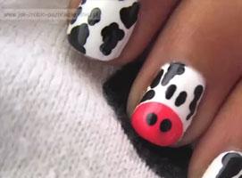 Jak zrobić wzorek krówki na paznokciach