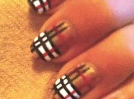 Jak zrobić wzorek Burberry na paznokciach