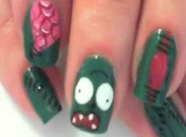 Jak zrobić wzorek na paznokcie - świnka z Angry Birds