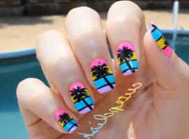 Jak zrobić palmy na paznokciach
