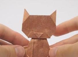 Jak zrobić siedzącego kota origami