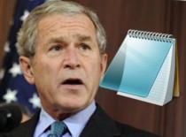 Jak działa George Bush na notatnik