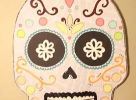 Jak zrobić ozdobę na ścianę - cukierkowa czaszka