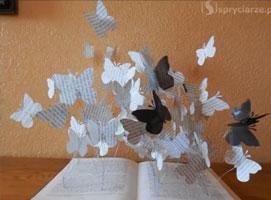 Jak zrobić ozdobę z książki z motywem motyli