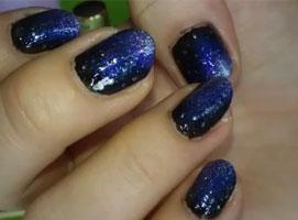 Jak pomalować paznokcie - galaktyczne ombre