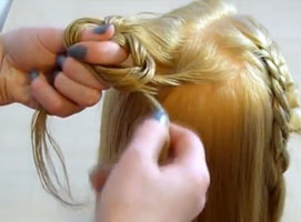 Jak zrobić ozdobny splot - spinka z włosów