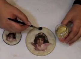 Jak wykonać Decoupage - kasetka z aniołkiem