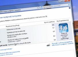 Jak zmienić ocenę wydajności w Windows 7