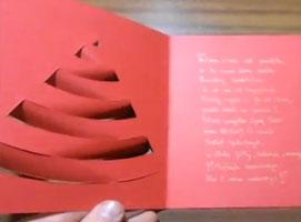 Jak zrobić kartkę świąteczną z motywem choinki