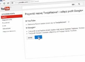 Jak zmienić nazwę na YouTube