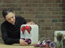 Jak zrobić stojak na buty ze styropianowego pudełka