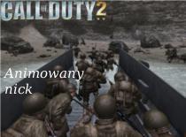 Jak zrobić animowany nick w Call Of Duty 2