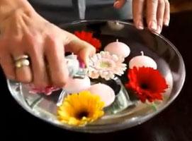 Jak zrobić aranżację z pływającymi świeczkami