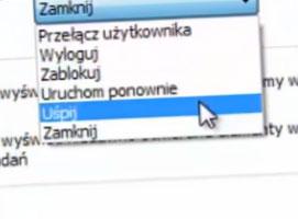 Jak zmienić przycisk zamknij na uśpij w Windows 7