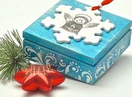 Jak wykonać świąteczne pudełeczko z Janiołkiem