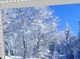 Jak zrobić efekt padającego śniegu w Photoshop