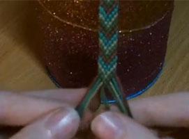 Jak zrobić bransoletkę z muliny - Jodełka