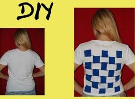 Jak zrobić t-shirt - plecy w kratkę